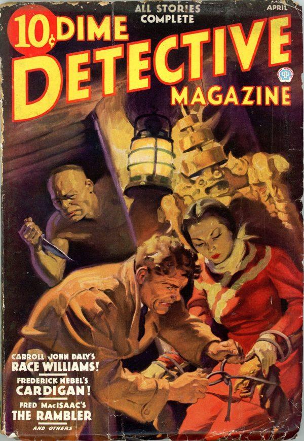 DIME DETECTIVE MAGAZINE. April 1936