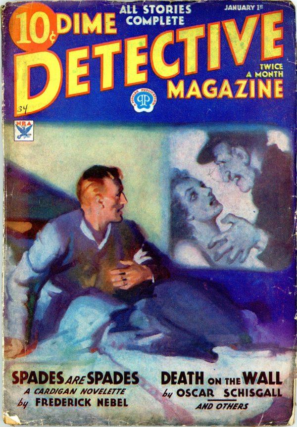 DIME DETECTIVE MAGAZINE. January 1, 1934