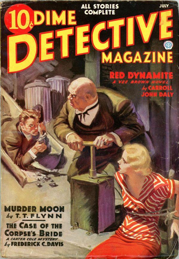DIME DETECTIVE MAGAZINE. July 1936