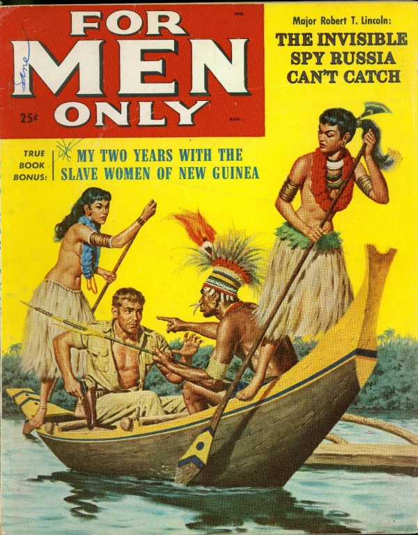 August 1958 For Men Only