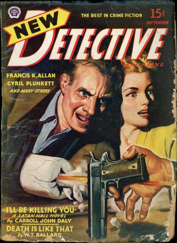 NEW DETECTIVE MAGAZINE. September, 1945