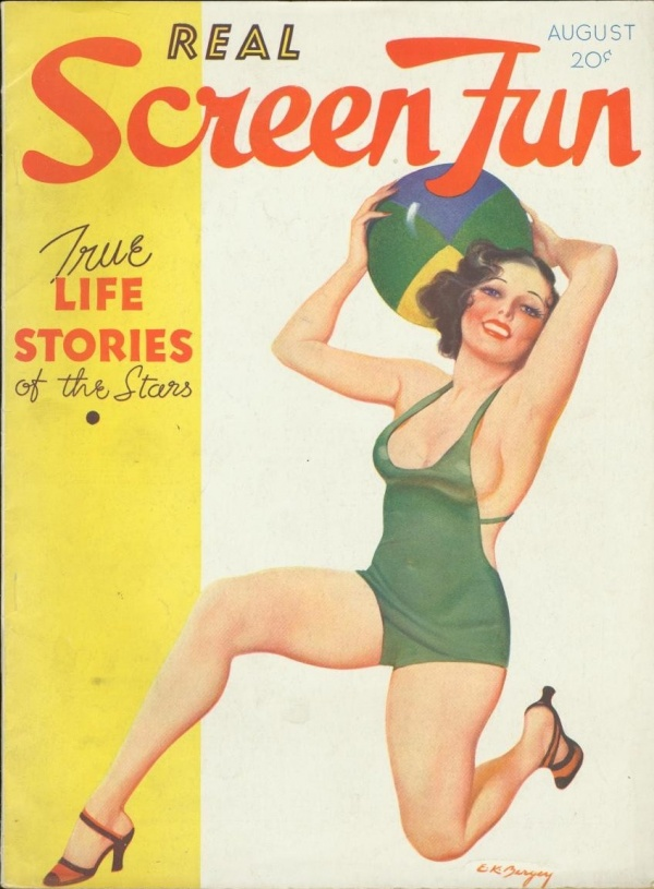 Real Screen Fun August 1934