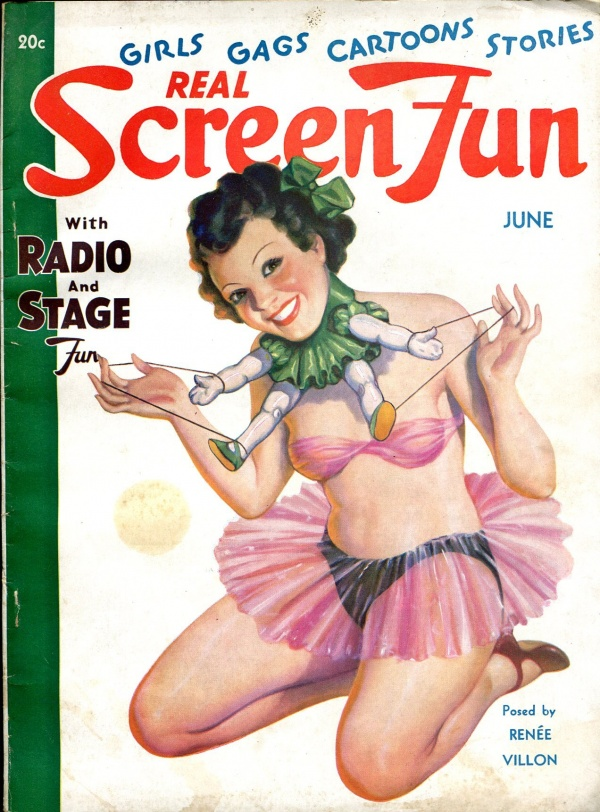 Real Screen Fun June 1936