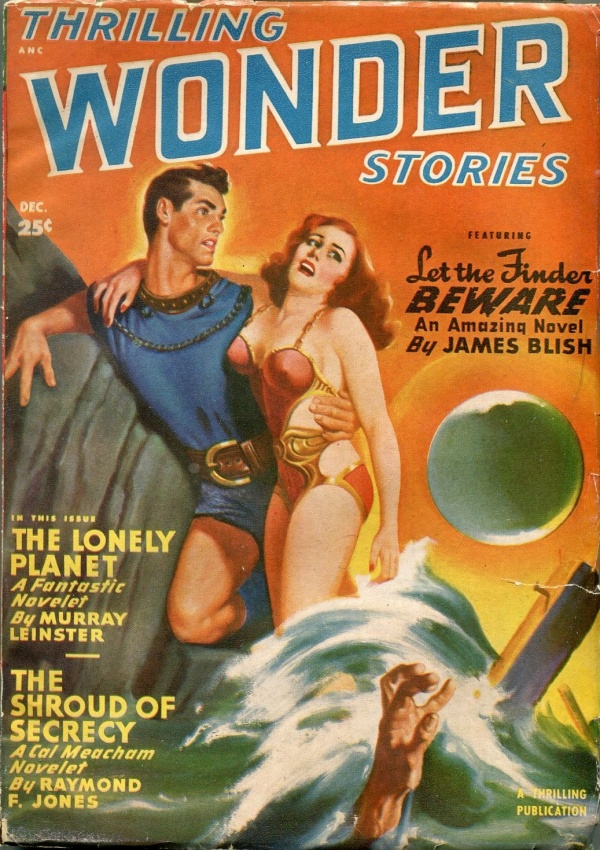 Thrilling Wonder Stories December 1949 Bergey