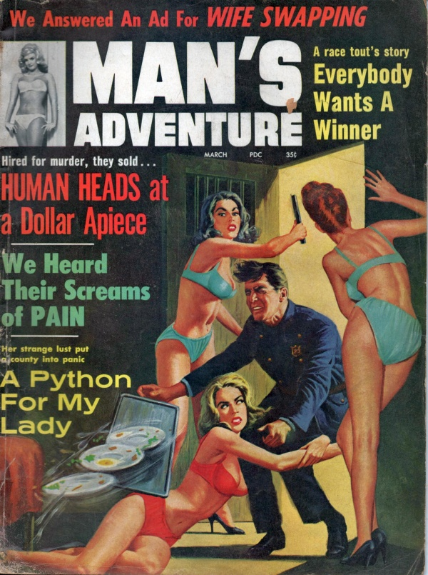 MANS ADVENTURE March 1964 5-6
