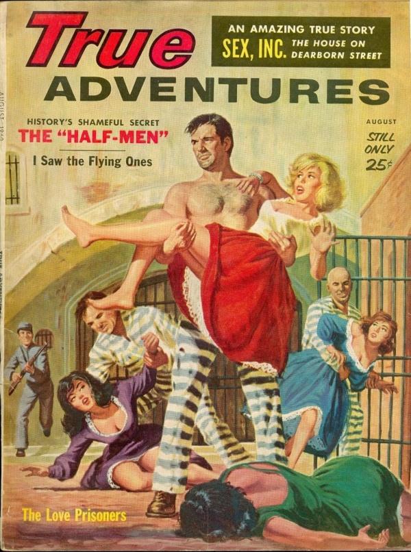 TRUE ADVENTURES, August 1960