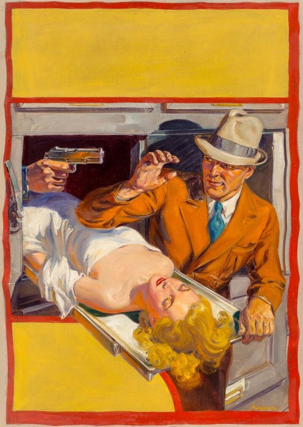 Ten Detective Aces pulp magazine cover, April 1938