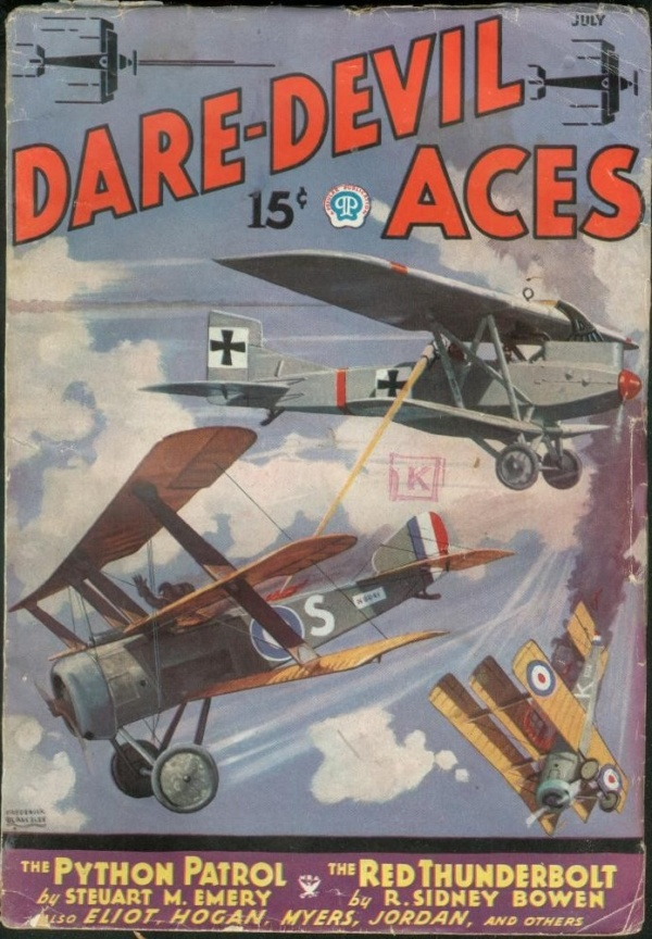 Dare-Devil Aces July 1935