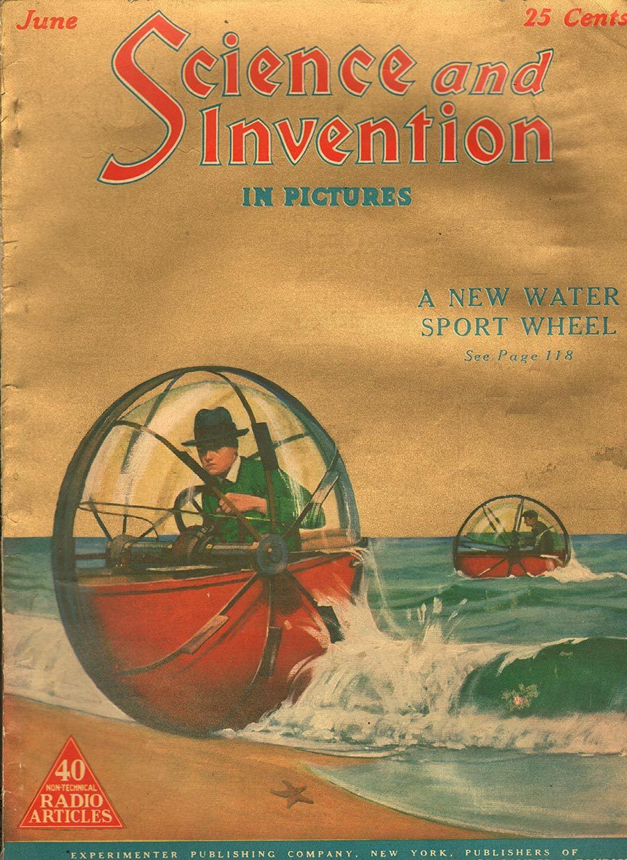 science and invention pulp covers