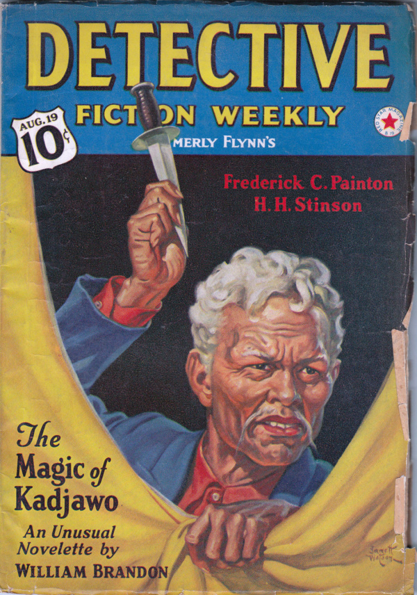 DETECTIVE FICTION WEEKLY August 19, 1939