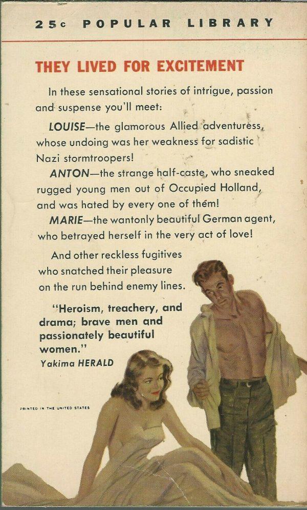 Popular Library Paperback 629 1954 Back