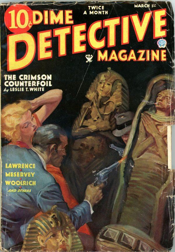 DIME DETECTIVE MAGAZINE. March 1, 1935