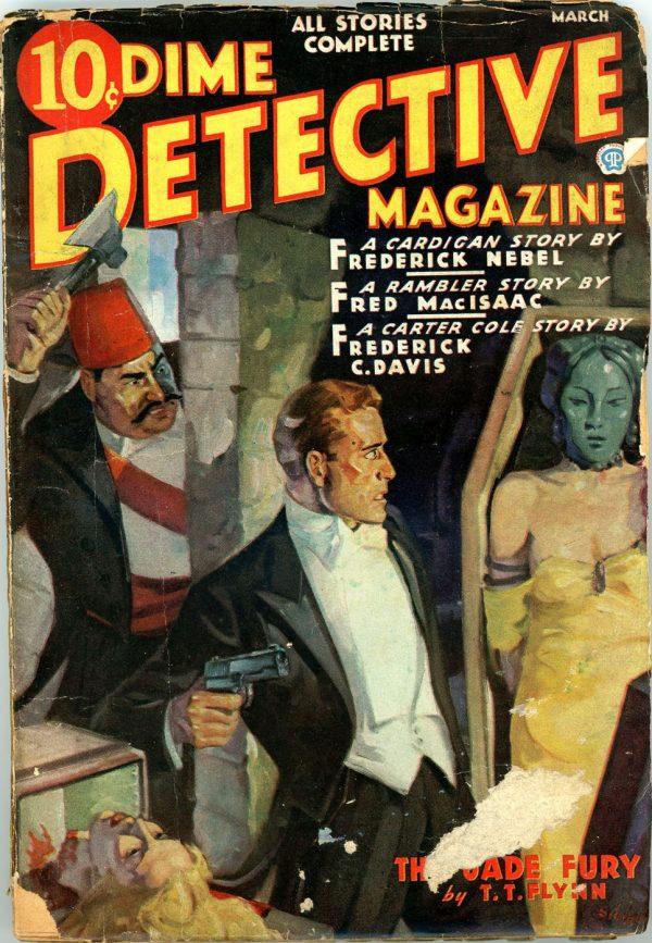DIME DETECTIVE MAGAZINE. March 1937