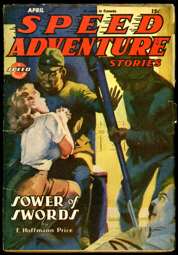 SPEED ADVENTURE STORIES. April, 1945