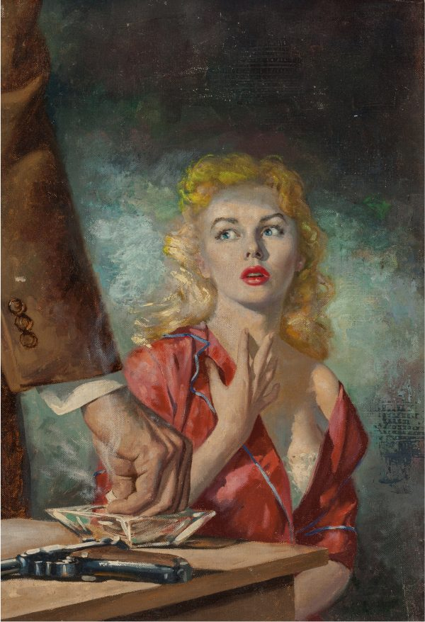 Manhunt Detective Story Monthly digest cover, June 1955