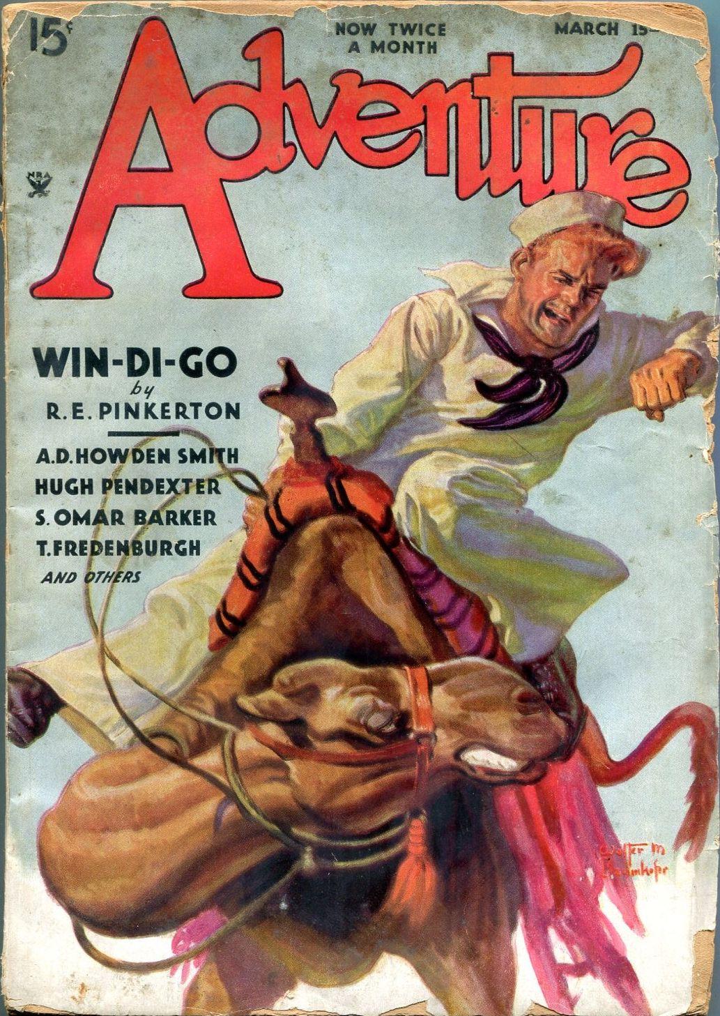 Adventure Magazine Pulp Covers