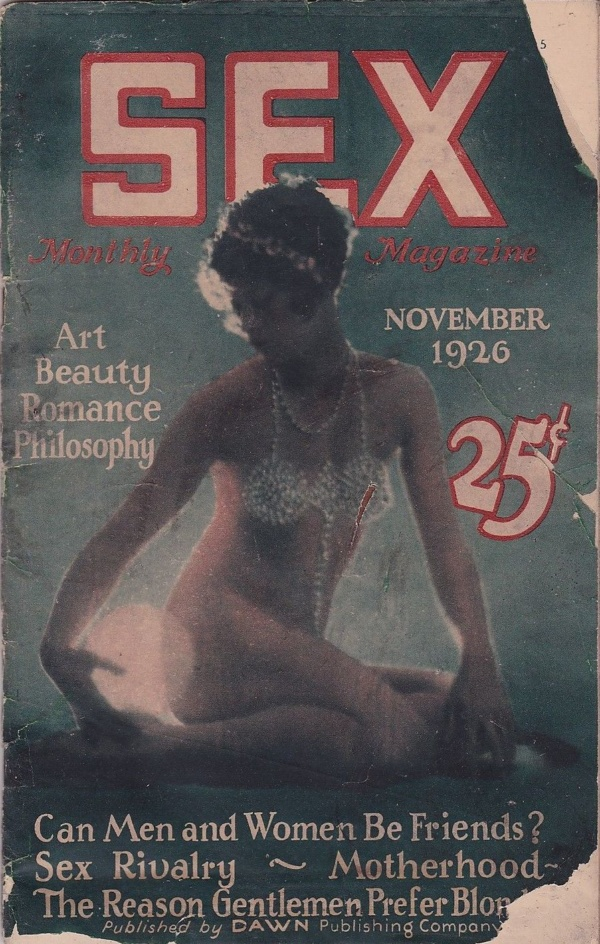 Sex Monthly Magazine November 1926