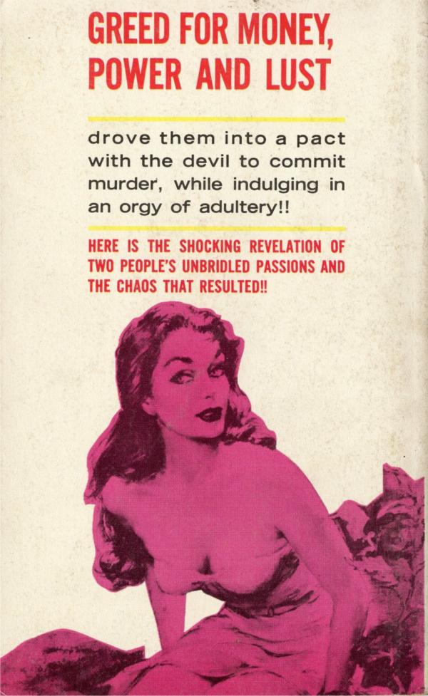 Tuxedo Books 1962 Back