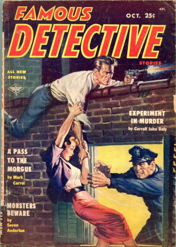 Famous Detective Stories October 1954
