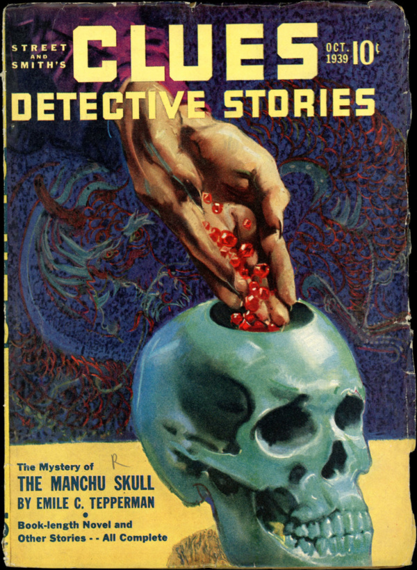 CLUES DETECTIVE STORIES. October 1939