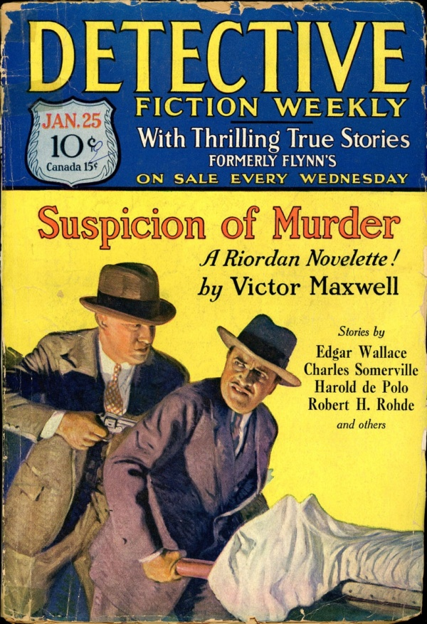 DETECTIVE FICTION WEEKLY. January 25, 1930