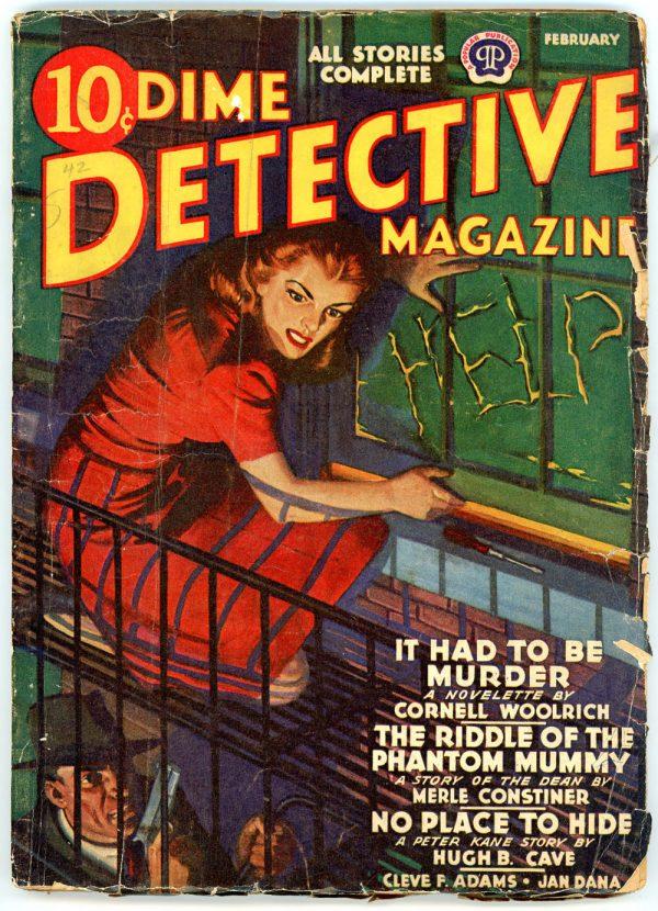 DIME DETECTIVE MAGAZINE. February 1942