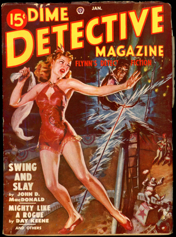 DIME DETECTIVE. January 1950