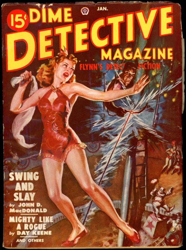 DIME DETECTIVE. January 1950