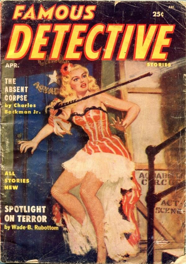 Famous Detective Stories April 1955