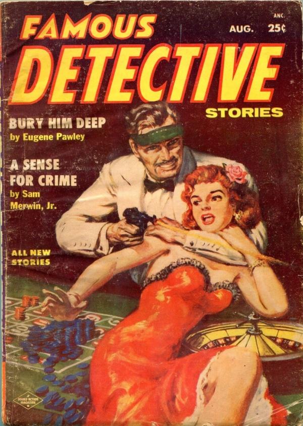 Famous Detective Stories August 1955
