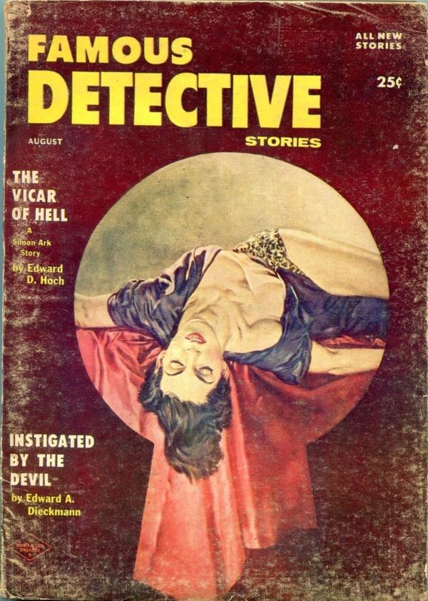 Famous Detective Stories August 1956