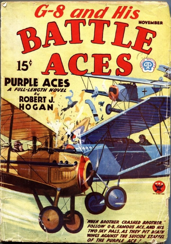 G-8 And His Battle Aces November 1933