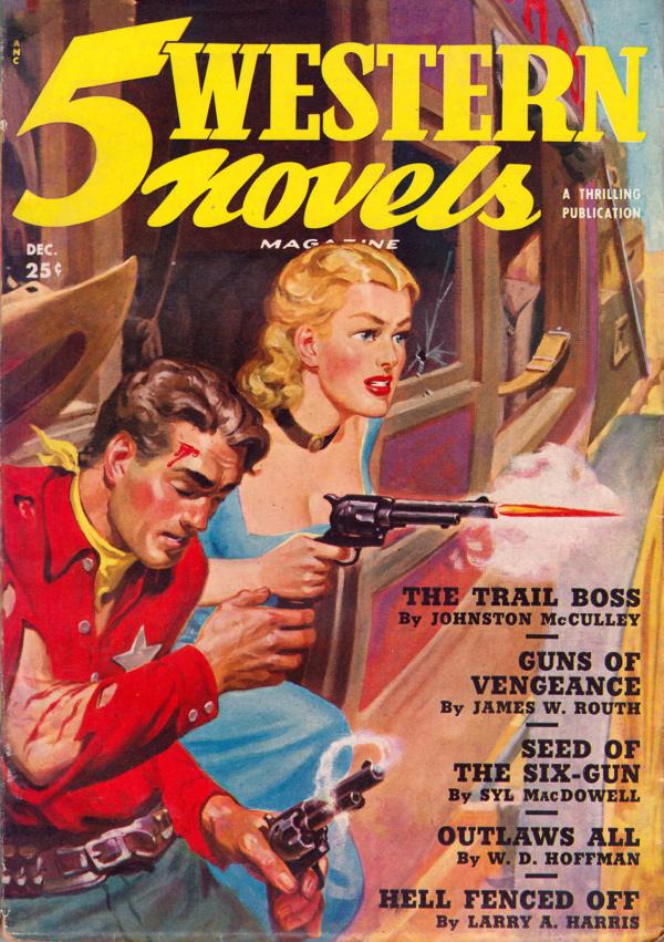 5 Western Novels - December 1950