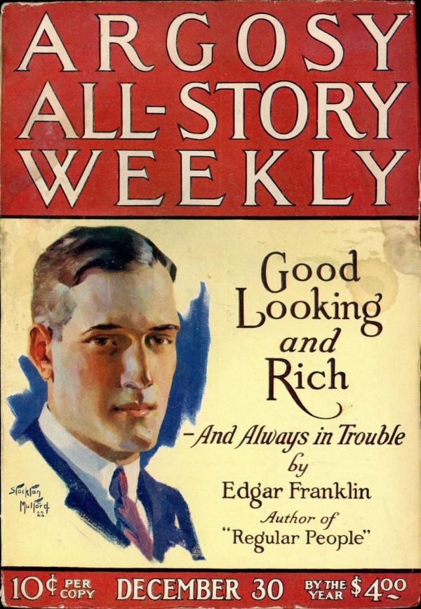 ARGOSY ALL-STORY WEEKLY. December 30, 1922