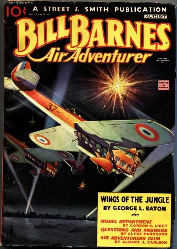 Bill Barnes Air Adventurer August 1935