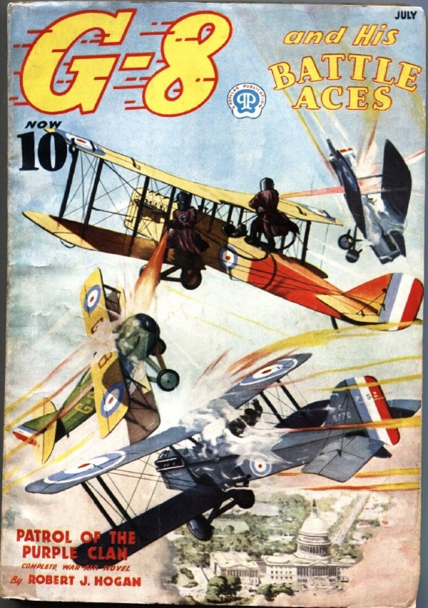 G-8 And His Battle Aces July 1937