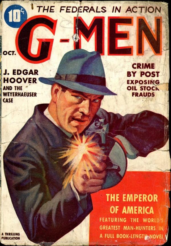 G-MEN. October 1938