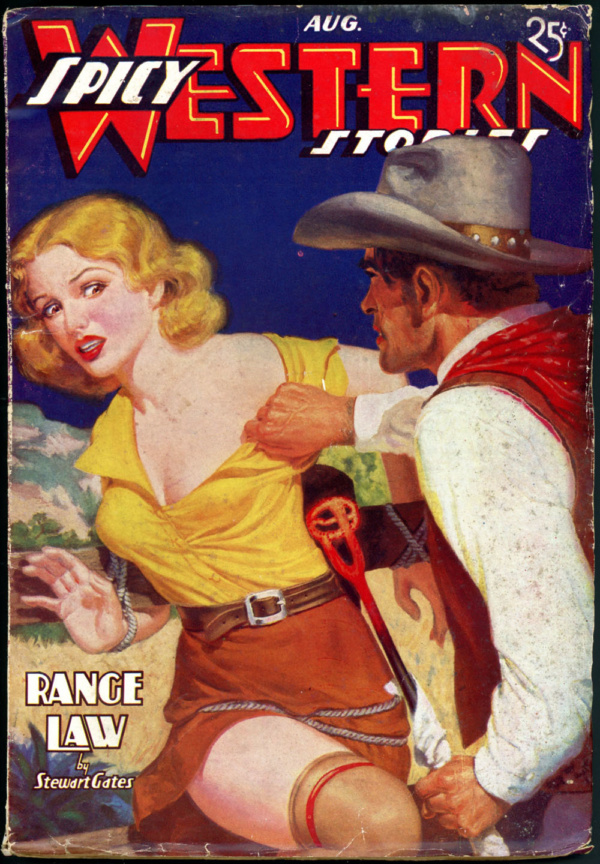 SPICY WESTERN STORIES. August 1937