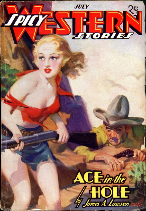SPICY WESTERN STORIES. July 1937