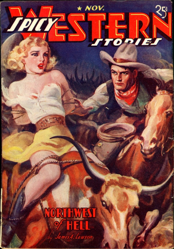 SPICY WESTERN STORIES. November 1937