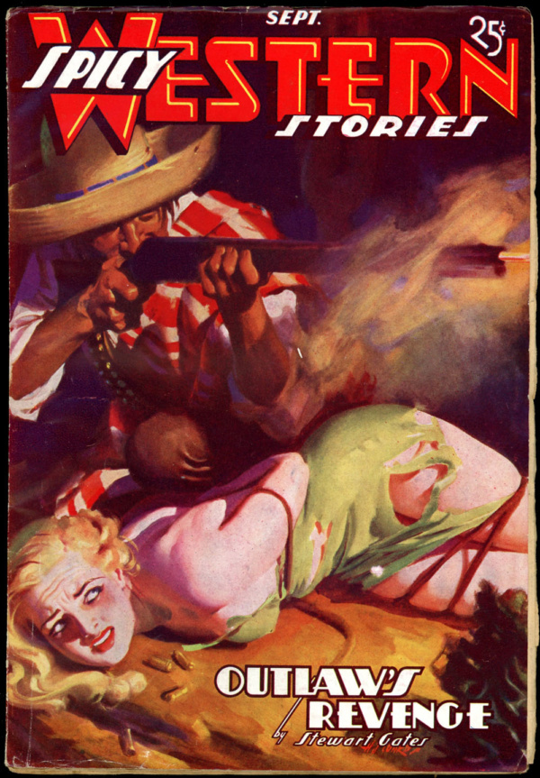 SPICY WESTERN STORIES. September 1937