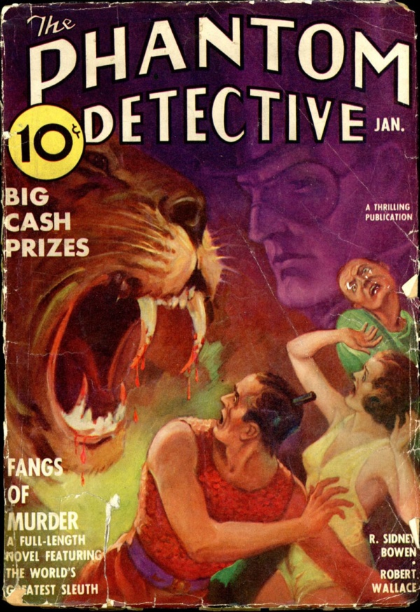 THE PHANTOM DETECTIVE. January, 1938
