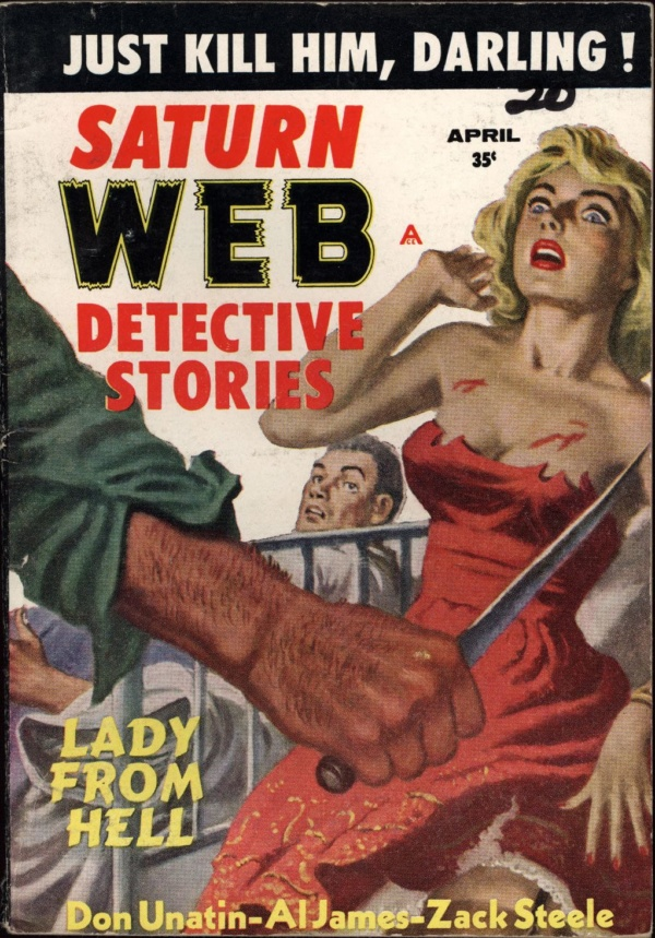 Saturn Web Detective Stories April 1959