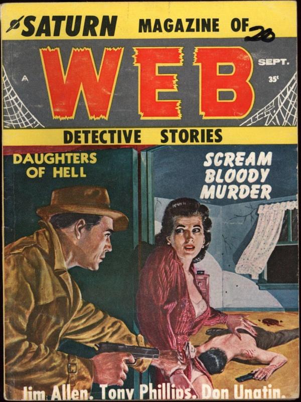 Saturn Web Detective Stories Sept 1958