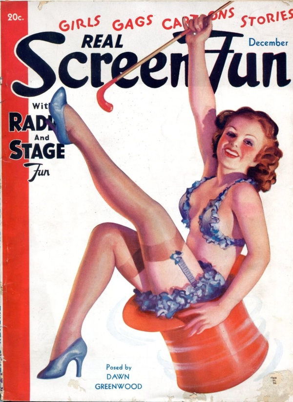 Real Screen Fun December 1936