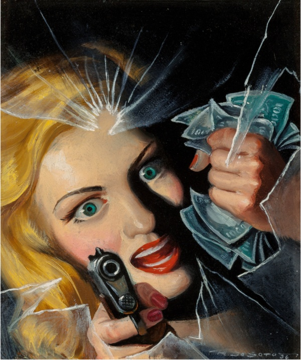 Murder A.W.O.L., Black Mask magazine cover, 1944