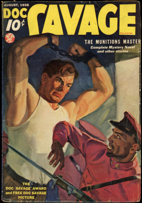 DOC SAVAGE. August, 1938