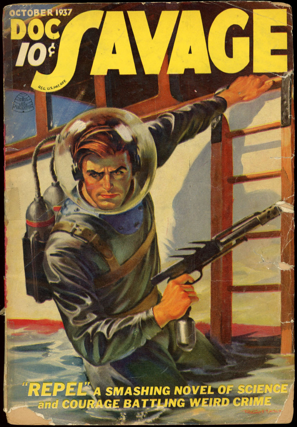 Coverage of an original Doc Savage magazine from October 1937.