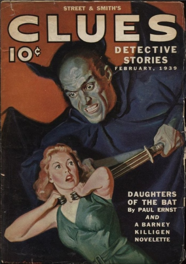 Clues Detective Stories 1939 February
