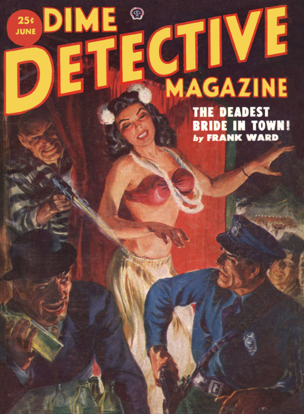 Dime Detective Magazine June 1952